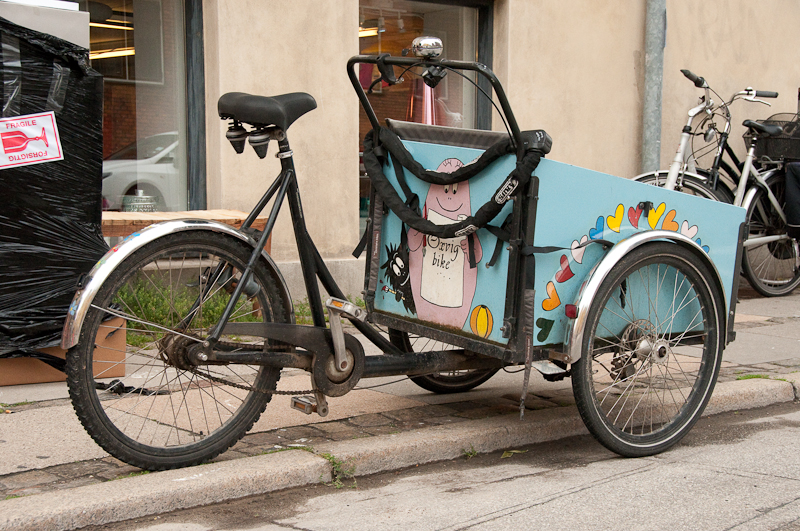 Christiania - Light blue, parked, hearts painted