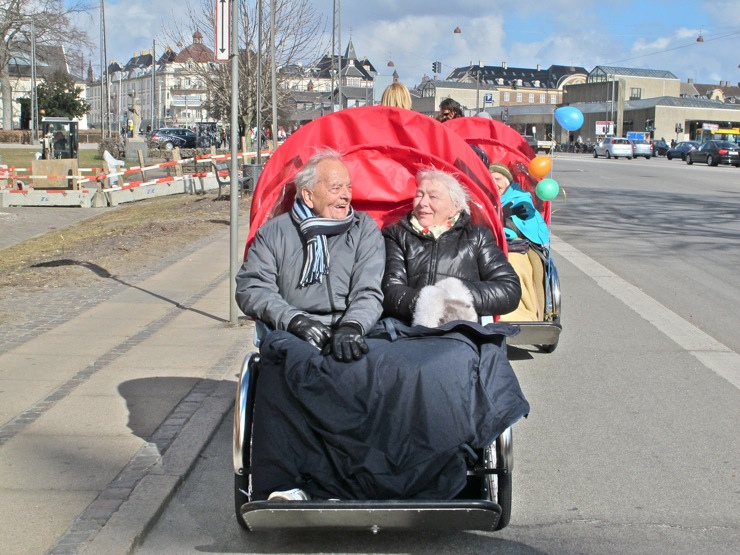 Christiania - Taxi, two elderly passengers