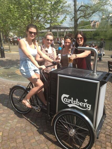 Christiania - Catering, Carlsberg tricycle four girls