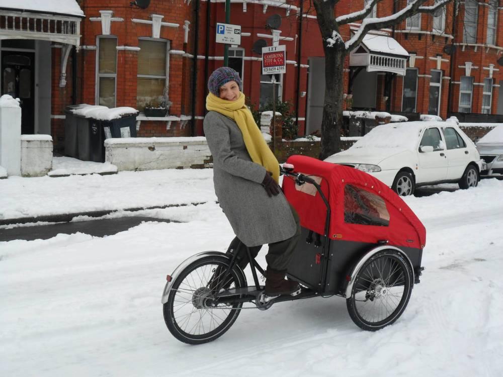 Christiania - Sylvia in the snow