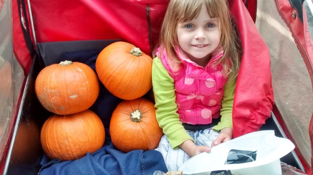 Christiania - Sylvia's daughter w pumpkins