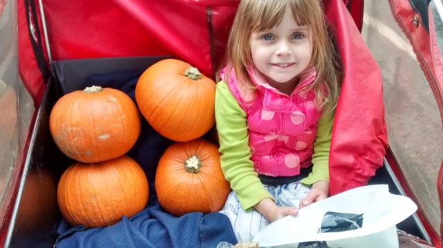 Christiania - Sylvia's daughter w pumpkins